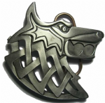 Viking Wolf Belt Buckle + display stand. Code EG3